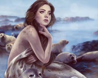 Selkie with Seal